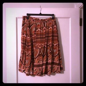 LuLaRoe Madison Aztec skirt in a size XL
